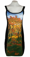 Breeke & Company Gustav Glimt - Edge of the Forest, Sleeveless, Scoop Neck, Hand Silk-Screened Woman's Art Dress