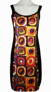 Breeke & Company Kandinsky - Color Study of Squares, Sleeveless, Scoop Neck, Hand Silk-Screened Woman's Art Dress
