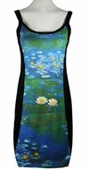Breeke & Company Monet - Waterlilies, Sleeveless, Scoop Neck, Hand Silk-Screened Woman's Art Dress