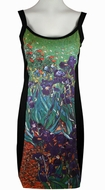Breeke & Company Van Gogh - Irises, Sleeveless, Scoop Neck, Hand Silk-Screened Woman's Art Dress
