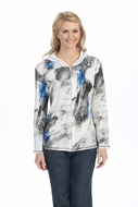 Jess & Jane - Duel, Hoodie Top Long Sleeve with Rhinestone Accents