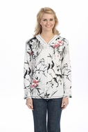 Jess & Jane - Eastern Horses, Hoodie Top Long Sleeve with Rhinestone Accents