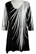 Valentina Signa � Feather Fall, 3/4 Sleeve Sharkbite Tunic Rhinestone Accents