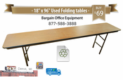 "18"" x 96"" Used Commercial folding tables"