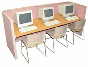 3 person computer lab units