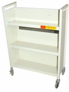 3 shelf single sided book cart