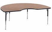 48 x 72 kidney shape table