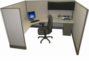 6x8 Tall Office Cubicle
