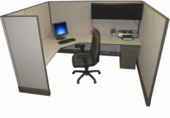 "67""H Acoustical Cubicle"