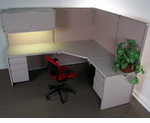 Beige Managerial Workstation