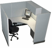 "67""H 6x6 ""Action"" Cubicle"