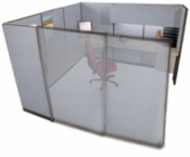 Large Managerial Office Cubicle