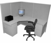 "65""H Steelcase 5x6 Cubicle"