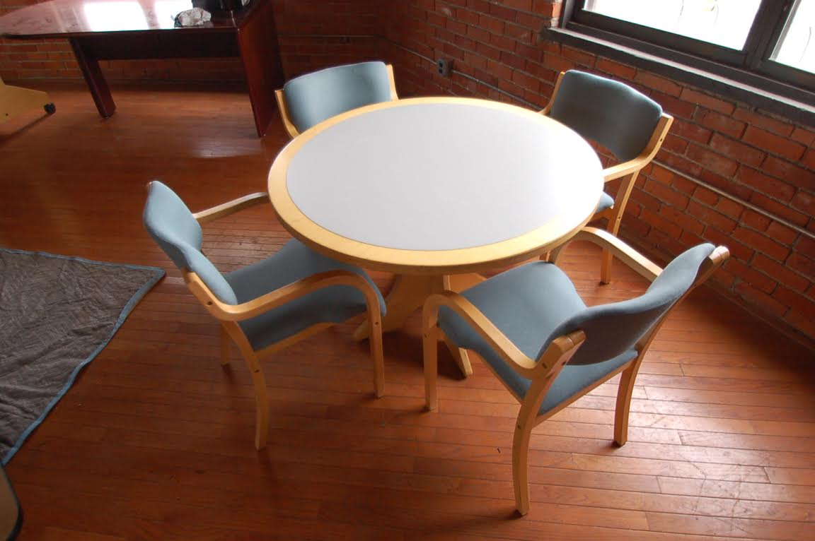 Wood 42 Round Table Set