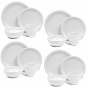 American Bistro 16 Piece Dinnerware Set = 4 place settings with mugs