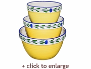 Bella Flora Three-Piece Mixing Bowl Set