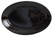 Black Large Oval Serving Platter