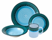 Carousel Blue 4-Piece Place Setting