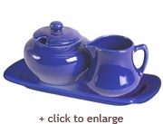 Cornflower Blue Sugar and Creamer Set