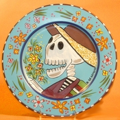 Day of the Dead Gentleman with Flower Bouquet 12.5""