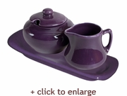 Eggplant Sugar and Creamer Set - Eggplant