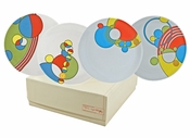 Frank Lloyd Wright Cabaret Dessert Plate Set with Gift Box