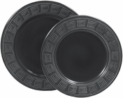 "Frank Lloyd Wright ""Whirling Arrow"" - Plate Sets of 4 - Slate Gray"