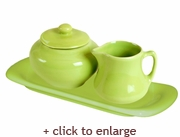 Lime Sugar and Creamer Set