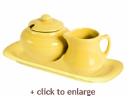 Mustard Sugar and Creamer Set - Mustard
