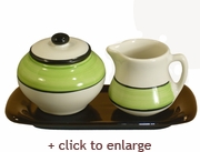 Spree Sugar and Creamer Set - Lime