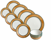 Terra Patina 12 Piece Dinnerware Set = 4 place settings