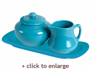 Turquoise Sugar and Creamer Set
