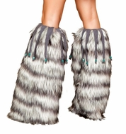 Beaded Fringe Legwarmers