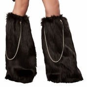 Black Warrior Chain Legwarmers