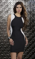 Body Con High Collar Dress - Sharp