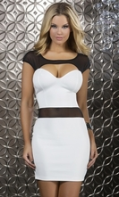 Body Con Scuba Mini Dress - Elegance