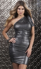 Metallic Versatile Mini Dress - Luster
