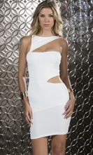 Mini Dress With Triangle Cutouts - Dashing