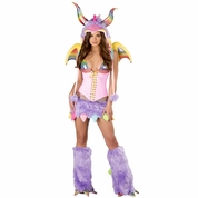 Rainbow Dragon Top and Skirt Costume