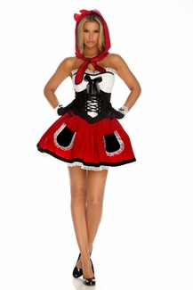 Red Hot Riding Hood 4 Piece Costume