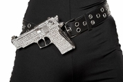 Rhinestone Gun With Belt
