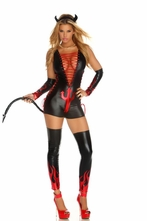 Sexy Black Devil Costume