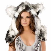 Silver Indian Claw Hood