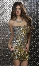 Two Way Sequin Dress - Elena