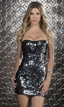 Two Way Sequin Mini Dress - Salerno