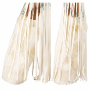 White Indian Costume Legwarmers