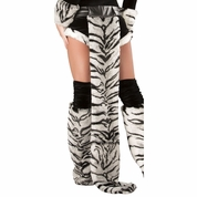 White Tiger Belt with Tail