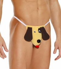 2908 Mens Dog Character Pouch  G-string by Elegant Moments