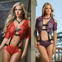 L1311 2pc Opulent Fishnet Teddy Set by Gworld
