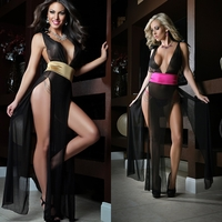 D1325 3pc Deep V Neckline Sexy Gown by Gworld
